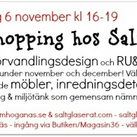 Showroom & Pop-Up-Shopping hos Saltglaserat på Magasin36, dec2014 - jan2015
