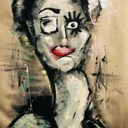 Chalkpainting Dagny Original - 180x105 cm