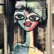 Chalkpainting Cecilia Original - 60x45 cm