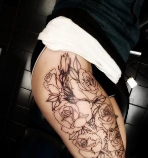 Den här gör jag hos Henke på Painted Pirate Tattoo, Baldersgatan i Göteborg