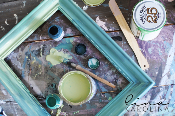 Working on an ombre look by step by step mixing Aubusson, Lem Lem, Antibes Green och Florence