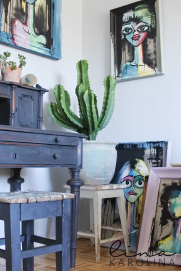 Almost everything is painted with Annie Sloan Chalk Paint in my home