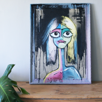 Chalkpainting original - Frida