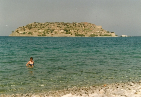 April 1993. Spinalonga, spedalskhedsøen, som ligger ud for Plaka.