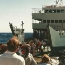 I Chora Sfakion læsser færgen vandrere og andre turister af igen.
