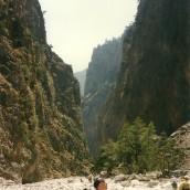 Efter flere tilløb vandrede jeg i august 1997 endelig hele turen ned gennem Samaria-ravinen.