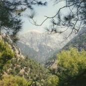 Et bonusfoto taget temmelig højt oppe - hvor De Hvide Bjerge rigtigt kunne ses.
