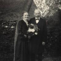 Agnes og Jakob Kjeldbjerg (sølvbryllup - 1937?).