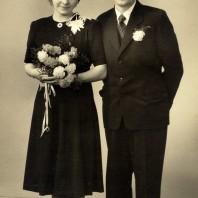 Inger (Kjeldbjerg) og Peter Lambertsen, 1950.