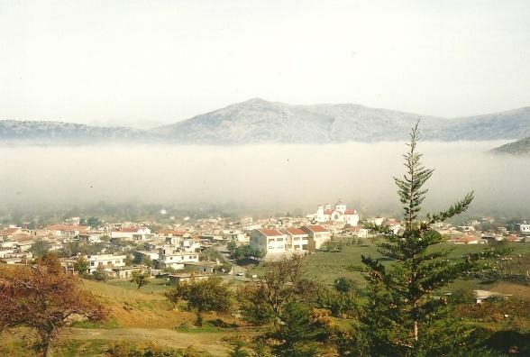2. november 2002. Oppe oven for Agios Georgios, på vej sydpå, på vej bort fra Lasithi-sletten.