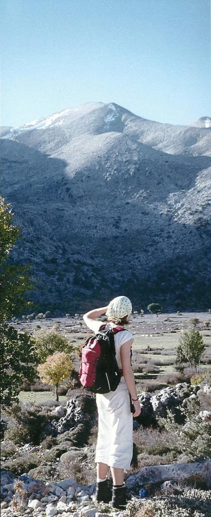 Niato-plateauet oven for Askifou. Det mærkes, at De Hvide Bjerge er tæt på.