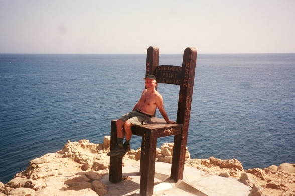 Europas sydligste møbel, der paradoksalt nok vender, så man kigger mod nord, når man sidder ned.