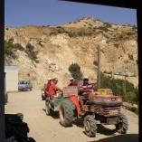 Giorgos kørte raskt afsted, når færgen fra Kreta skulle komme, og vendte altid tilbage med turister.