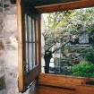 Milia, et kig ud fra det hus, vi boede i.