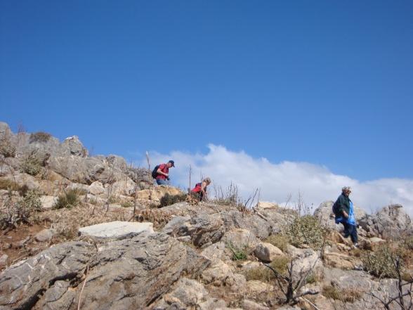 På vandring med Conny og Solveig (i nærheden af Preveli, 2011).