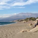 Kalamaki, den nærmeste strand nord for Matala.