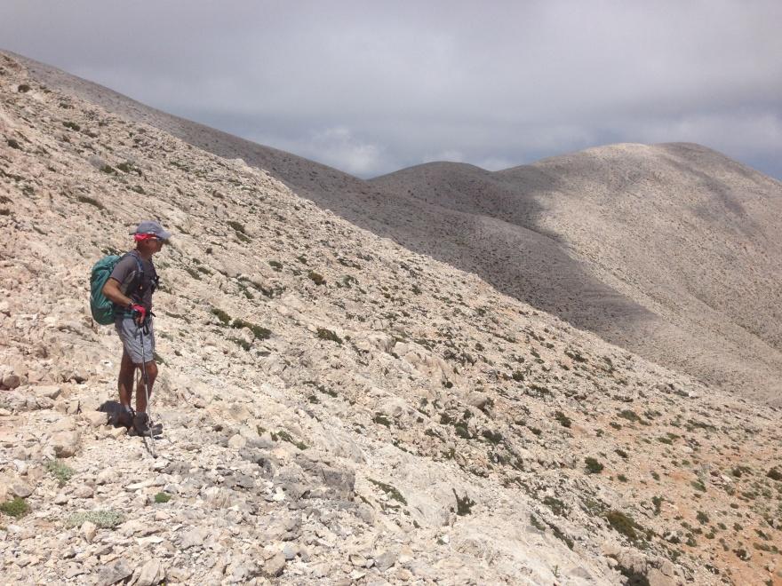 Dette foto, mit første af Vangelis, kan meget vel være taget tæt på, hvor jeg kom bort fra stien 6 dage tidligere. Det er i hvert fald et af de steder, hvor han spurgte mig, om jeg syntes, at jeg kunne genkende omgivelserne fra min 5-dages-vandring.