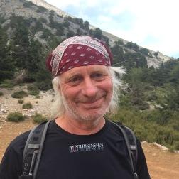 Ser jeg stædig og målrettet ud? I hvert fald var jeg på dette tidspunkt på vej ud på min første ensomme vandring i De Hvide Bjerge, siden jeg fandt ned fra dem 3 uger tidligere. Foto: Anne Wollter