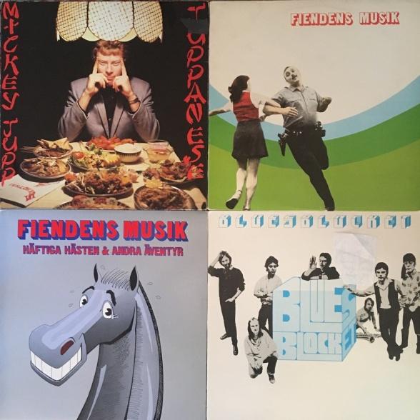 """4 lp'er, der (næsten) forandrede verden: Mickey Jupps """"Juppanese"""" (1978), """"Fiendens Musik"""" (1979), Fiendens Musiks """"Häftiga hästen & andra äventyr"""" (1980) og """"BluesBlocket"""" (1981)."""