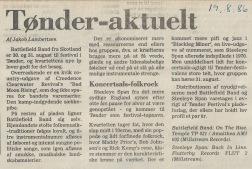 En bette anmeldelse af bl.a. Steeleye Spans aktuelle lp forud for Tønder Festival 1986.