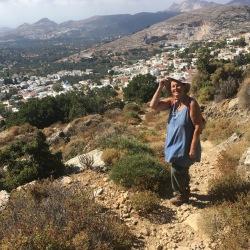 Vandring oven for Filoti, Naxos (10. september).