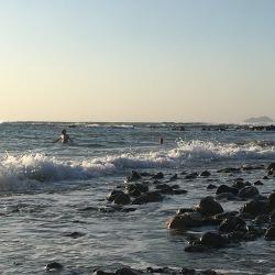 I bølgen ved Falassarna (14. september).