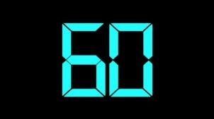 60 sekunder fyra gånger om dagen...
