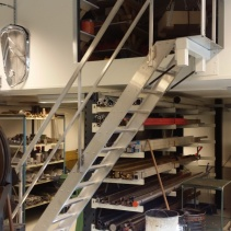 Fällbar aluminiumtrappa till loft