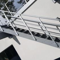 Aluminiumtrappa utomhus fasad