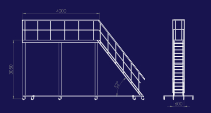 Mobil arbetsplattform för arbete på tex tåg eller lastbilar