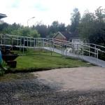 Lång aluminiumramp för rullstolar