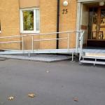 Rullstolsramp plattform aluminiumtrappa