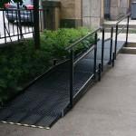 Rak rullstolsramp med vilplan