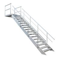 Rak trappa av aluminium