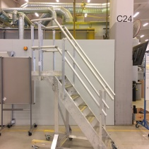 Cantilever aluminiumplattform
