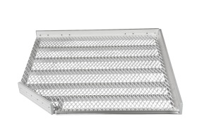 Vinklad ramp i aluminium