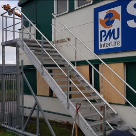 Brandtrappa baksida butikslokal