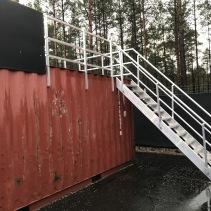 Aluminiumtrappa container