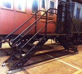 Mobil plattform för tågmuseum