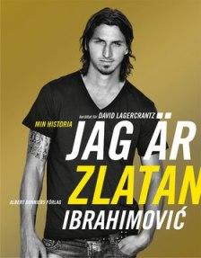 """Visst passar det bra att låta just den """"färgen"""" dominera boken om Zlatan, som också är en av alla de böcker som Nina har formgett."""