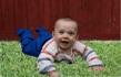 Busbyxan Baby brun/grön