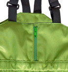 Busbyxan Plus, äppelgrön. Detalj blixtlås.