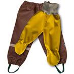 Syskonpaket brun/gul med ljusgrå mudd