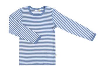 Undertröja blå-vitrandig ull/siden - 80 cl