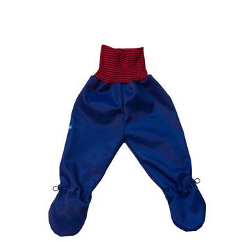 Busbyxan Baby mörkblå/röd-mörkblå-randig