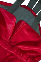 Busbyxan Plus / Vinter, röd, 120 cl, detalj blixtlås 2.
