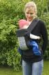 Busbyxan Baby svart/svart-grå-randig