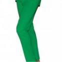 Lång byxa smaragdgrön bomull rand