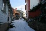 De vackra omgivningarna i kvarteren runt kyrkan. Foto: Martina Karlsson