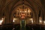 Orgelfasaden är från 1842 och tillverkad av Jönsson från Hjortsberga. Med sina 47 stämmor tillhör orgeln den största i Blekinge. Foto: Martina Karlsson